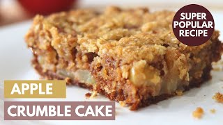 Apple Crumble Cake  How to Make the BEST EVER Apple Cake
