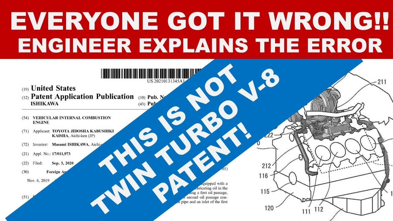 EVERYONE GOT THIS WRONG!! Engineer Explains Why This is NOT the Patent for a Twin Turbo V-8 Engine!