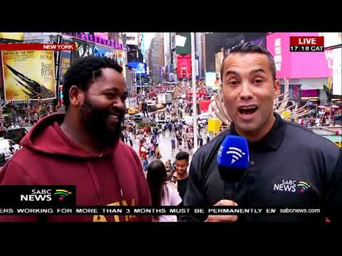 Sjava in New York for the BET awards