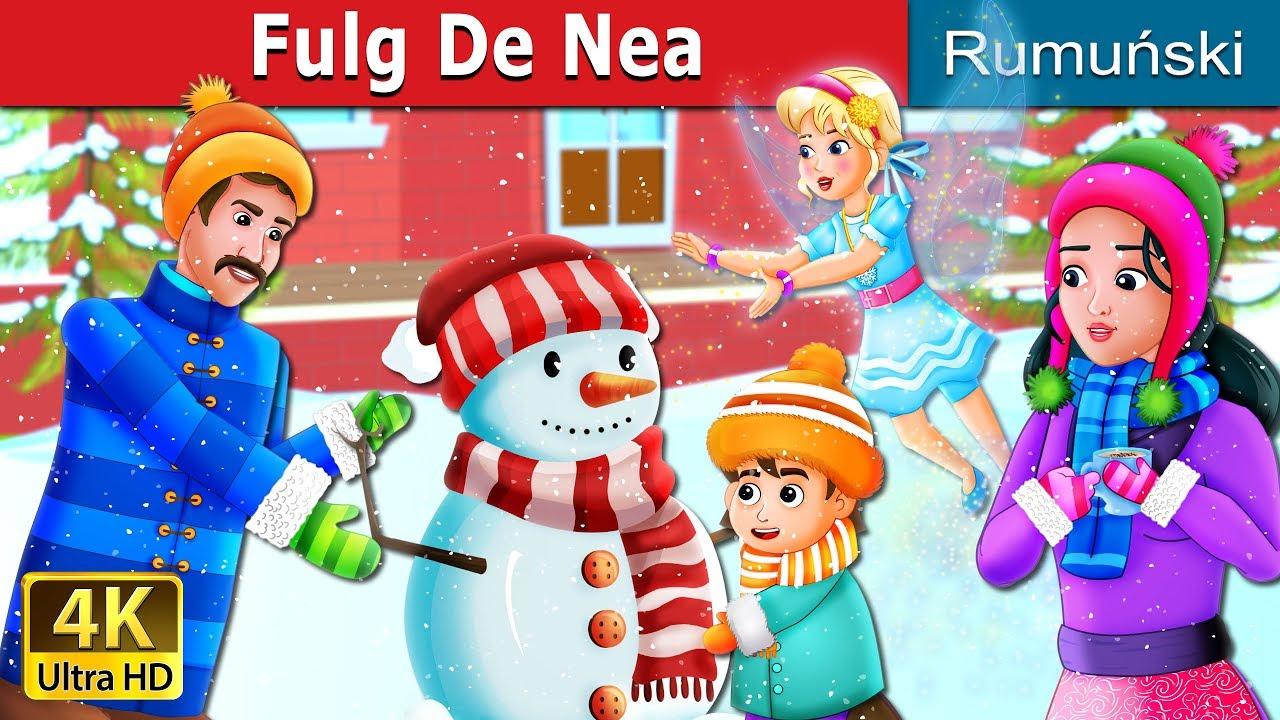 Fulg de nea | Snowflake Story | Povesti pentru copii | Romanian Fairy Tales