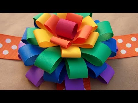 How To Make A Paper Bow Easy Step By Step