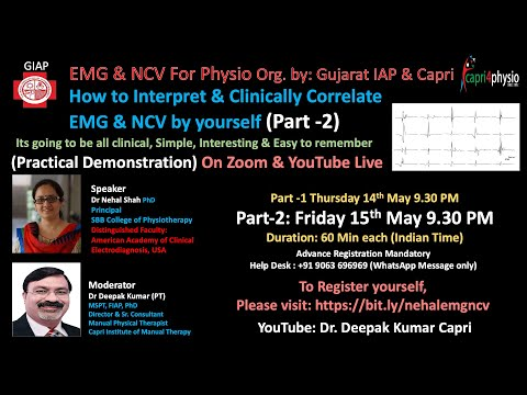 PART 2:  EMG & NCV How To Interpret & Correlate Clinically By Yourself From Physio Point Of View