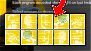 A Destiny EXOTIC ENGRAM OPENING