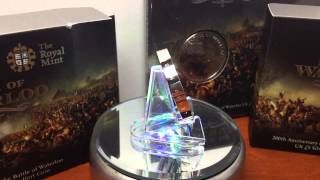 Battle of Waterloo Silver Piedfort Proof from the British Royal Mint (unboxing Stacking)