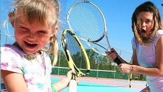 История про спорт с папой мамой и NastyaPlay