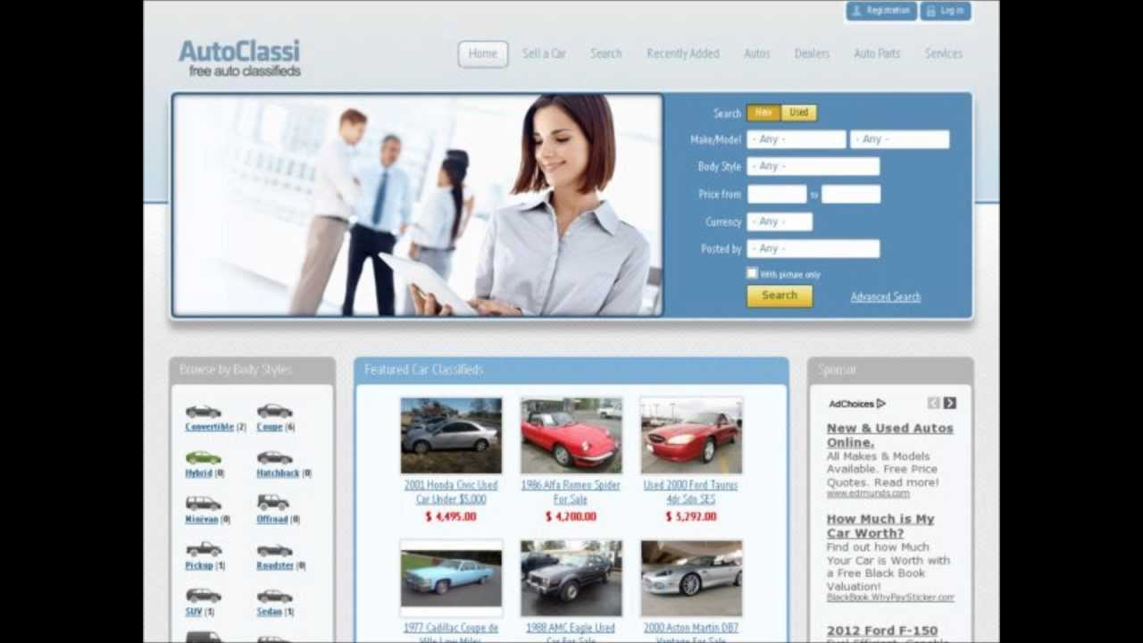 Free Used Car Classifieds, Sell Your Car Online FREE - YouTube