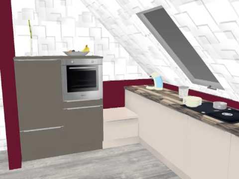 Kücheneinrichtung Kulm 381405-1 Dachgeschoss links - YouTube | {Kücheneinrichtung 13}