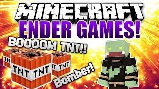 TNT FUN & EXPLOSIONEN mit dem BOMBER-KIT! - Minecraft ENDER GAMES SERIE #9 | ungespielt