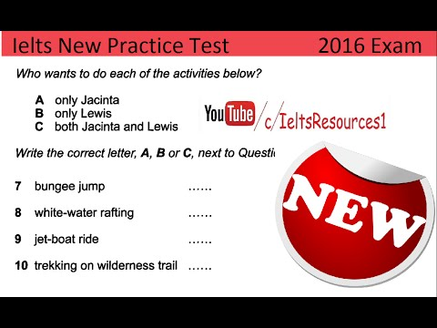 Ielts Listening Test From Real Exam 36 With Key 2016