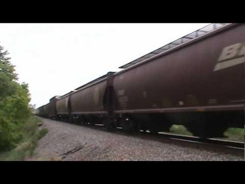 Railfanning Aitkin, MN - BNSF Brainerd Sub - May 26, 2012