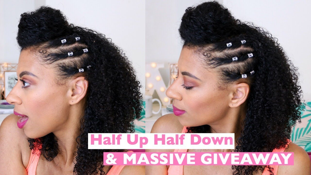 Natural Hair Half Up Half Down Hairstyle With A Twist Ft Carol S