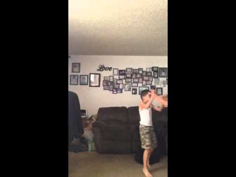 Wrestling my sis and bro part 2 ( got it in the balls at en