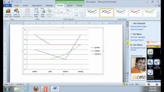 How to insert a line graph on Ms word (tutorial)