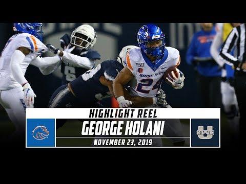 George Holani Highlights: No. 20 Boise State Vs. Utah State   Stadium
