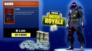 FORTNITE DAILY SKIN RESET - RAVEN SKIN!! Fortnite Battle Royale BRAND New Daily Items in Item Shop