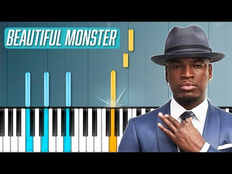 NeYo  Beautiful Monster Piano Tutorial  Chords  How To Play