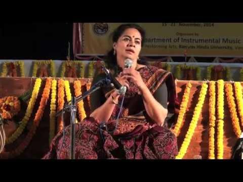 Dr. Sangeeta Shankar - On 22 Shrutis (Workshop At BHU)