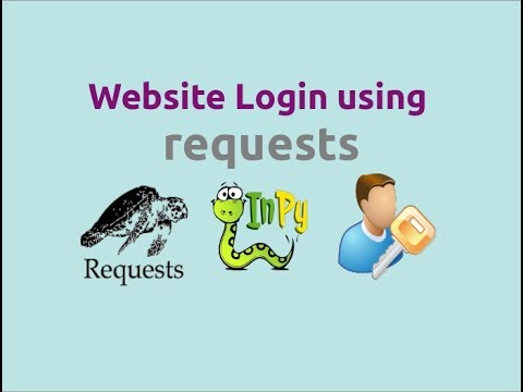Website login using requests library in Python