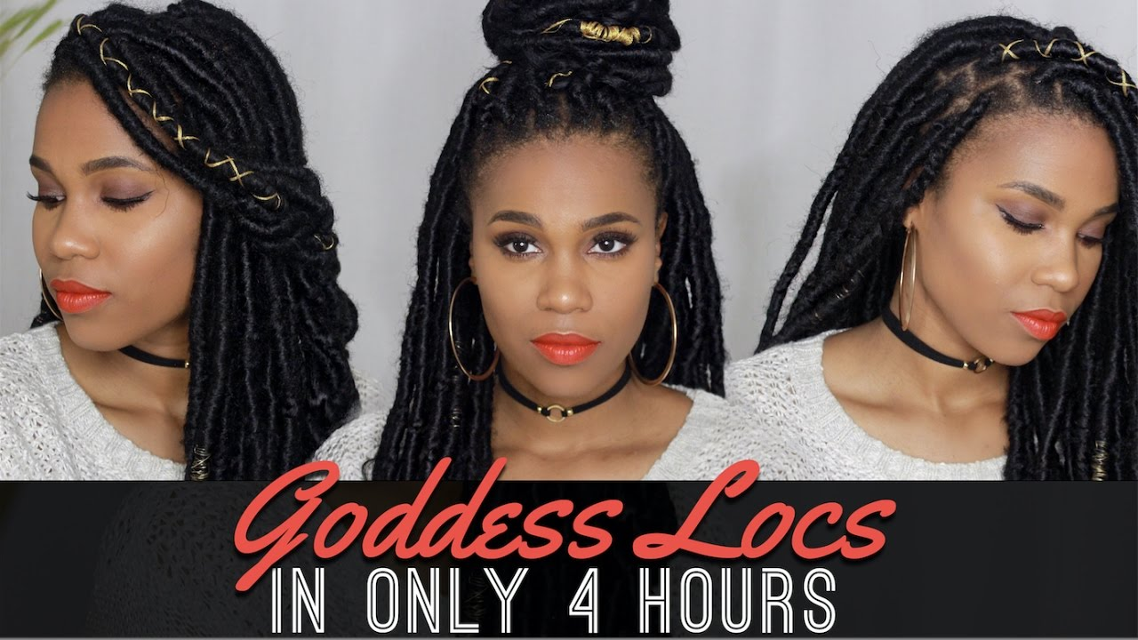 How To: Long Goddess Locs In 4 Hours With Crochet Senegal Braids