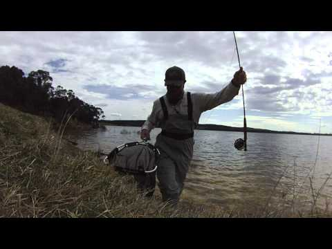 Young Guns Fishing Adventures - Todd Young - Catching Trout at Thompsons Creek Dam