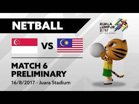 KL2017 29th SEA Games   Netball - SGP 🇸🇬 vs MAS 🇲🇾
