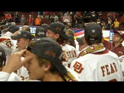 Denver celebrates the 2017 national championship (warning: strong language)