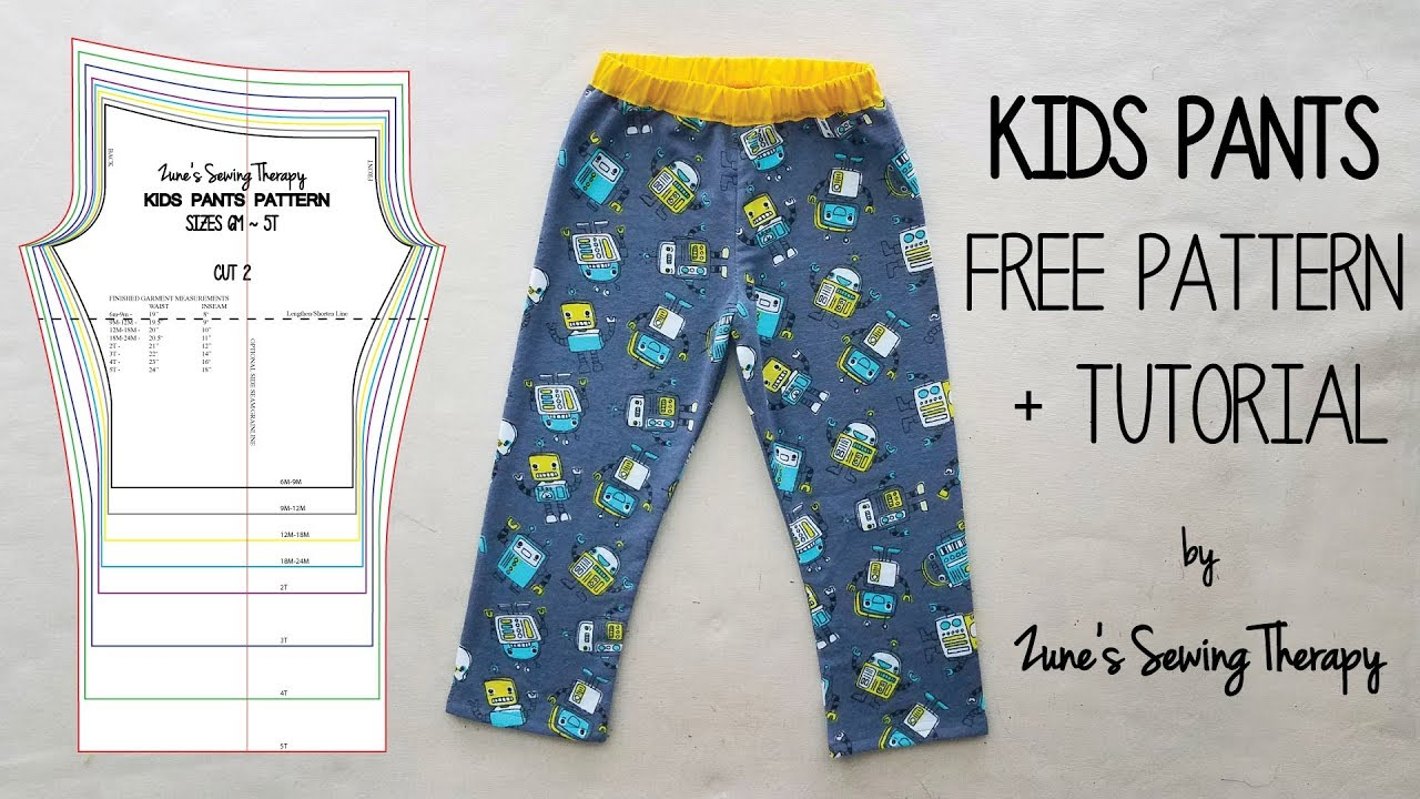 photograph regarding Printable Pajama Pants Pattern titled Sew Uni Young children Trousers No cost Sewing Habit + Information against