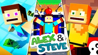The Minecraft Life of Alex and Steve | MOVIE 2 | Minecraft Animation