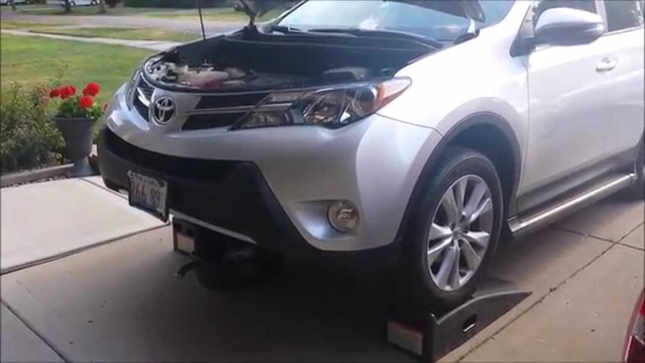 How to oil change toyota rav4 25l 4 cylinder 2013 2016 diy and youtube premium solutioingenieria Images