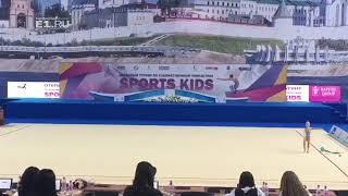 5-летняя гимнастка из Екатеринбурга на турнире в Казани
