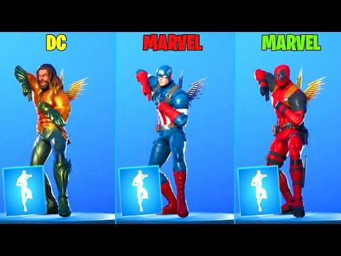 Fortnite Dance Battle of Superhero: Aquaman vs Captain America vs Deadpool