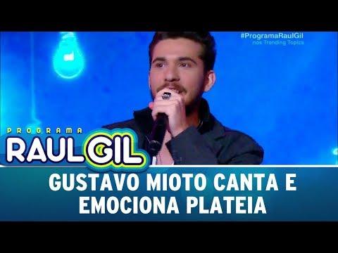 Gustavo Mioto Canta E Emociona Plateia | Programa Raul Gil (09/12/17)