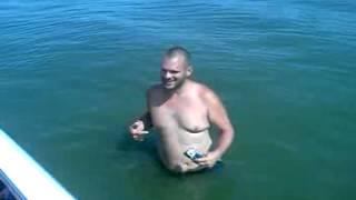Johns nipple bit by a fish