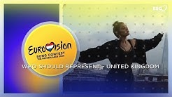 Who should represent United Kingdom in Eurovision Song Contest 2020
