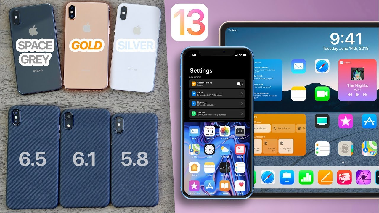 iPhone XS All Colors & Kevlar Cases! + iOS 13 Concepts To Die For