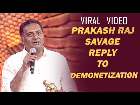 Prakash Raj Sarcastic Criticism on Modi Government on Stage | Vikatan Nambikkai Awards 2018