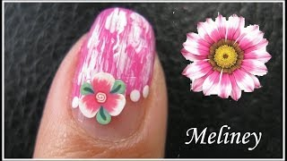 Summer Flower Nails | Fimo Nail Art Design Tutorial For Beginners Easy Simple Pink Diy