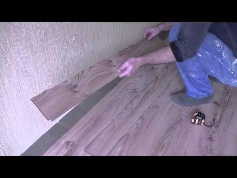 Как уложить последний ряд ламината у стены