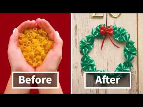 Amazing DIY Christmas Decorations Made From Pasta