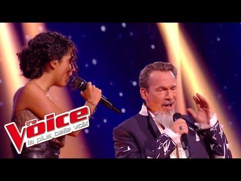 J'oublierai Ton Nom - Johnny Hallyday   Lucie Et Florent Pagny   The Voice France 2017   Live