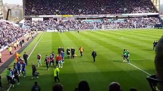 BURNLEY VS LEICESTER CITY 2-1/GOALS AND FIGHTS