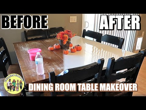 DINING ROOM TABLE MAKEOVER | EXTREME KITCHEN TABLE TRANSFORMATION | HOW TO REFINISH A TABLE