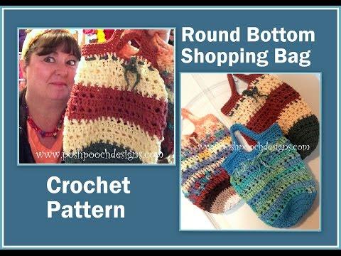 Round Bottom Cotton Shopping Bag Crochet Pattern