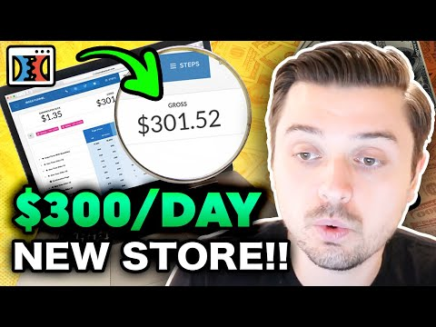 $300 A DAY!! BRAND NEW STORE!!   How To Launch A Dropshipping Funnel 2020 (Clickfunnels) thumbnail