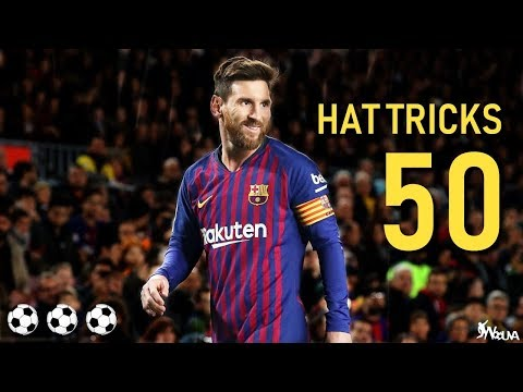 Lionel Messi - All 50 Hattricks in his Career (HD)