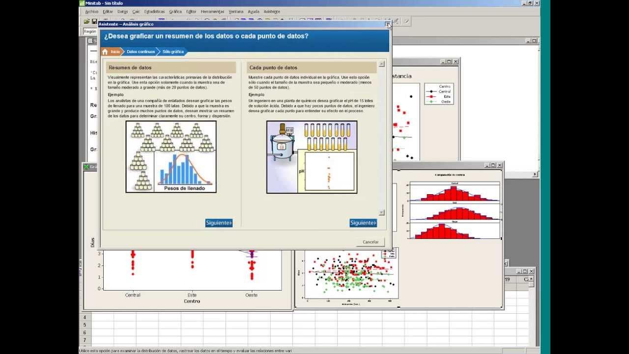 Primer vistazo a Minitab 16 y Estadística Descriptiva