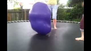 Water balloon on the trampoline!