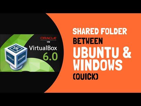 VirtualBox 6.0: Create Shared Folder Between Ubuntu And Windows (Fast!)