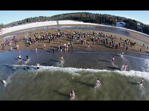 Mispec Polar Dip - Saint John, New Brunswick Canada - January 1st,2015 *Full Version*
