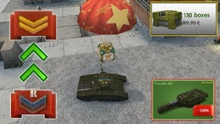 Tanki Online - New Road To  Legend Account  #1 Thunder M1 At Recuit!? + Opening 130 Containers!